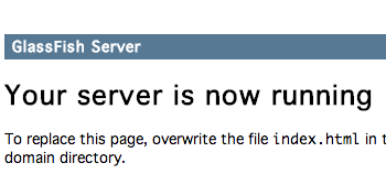glassfish server running